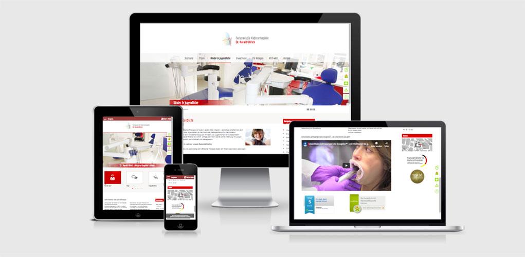 Beispiel für Praxismarketing für Ärzte und Arztpraxen,  Better Smile Kieferorthopäden, Fachpraxis für Kieferorthopädie Dr. Harald Ullrich